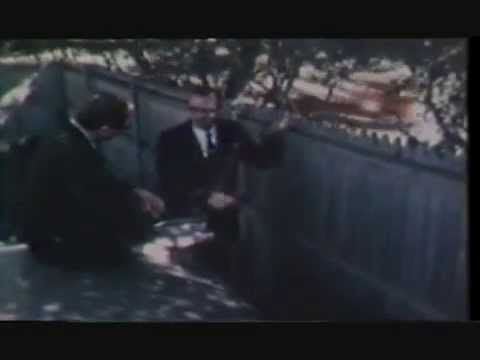 JFK Assassination Witness Sam Holland at the triple underpass and the Dealey Plaza picket fence