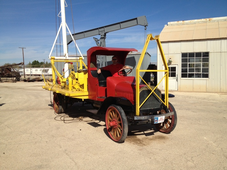 An old oilfield truck on display outside at The 2012 PBIOS