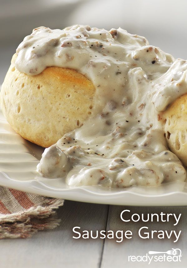 Country sausage in a creamy white gravy-great over biscuits!