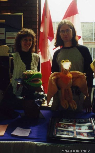 Peggy and Mike Artelle at a theatre conference, circa 2000.