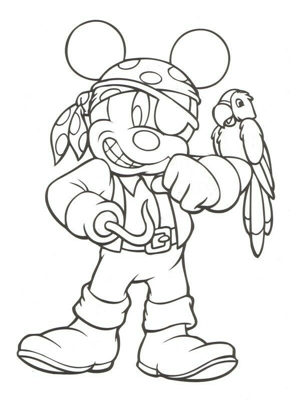 Pirate Mickey Halloween Coloring Pages Pirate Coloring Pages