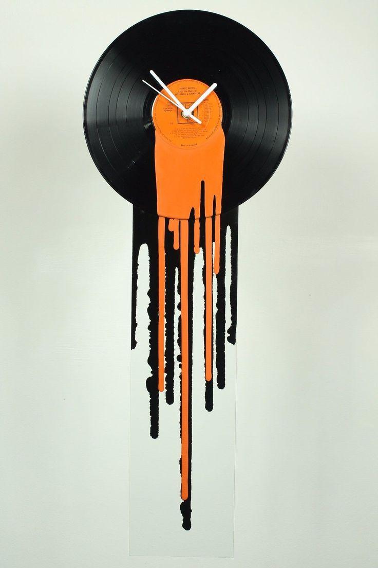 "Vinyl Record Wall Clock 12"" Dj Art Musical Decor Music Art Vinyl Clock | Home, Furniture & DIY, Clocks, Wall Clocks | eBay!"