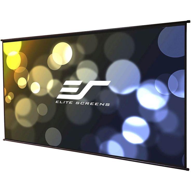 "Elite - Screens 116"" Projector Screen - Black"
