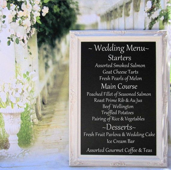 CHALKBOARD FOR WEDDING Menu Board With Easel Magnetic Standing Chalkboard 44x32 Display Weddings Reception