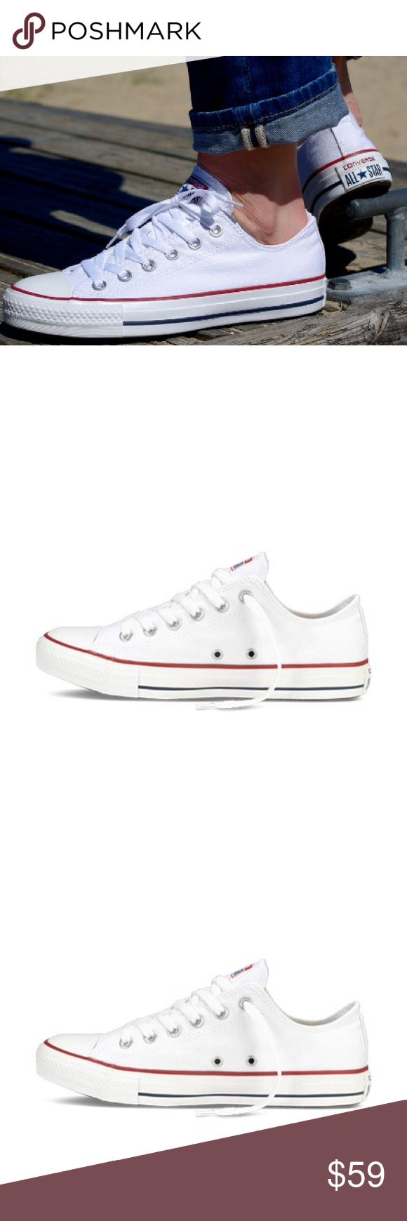 Converse womens size 6 white chuck Taylor's shoes Brand new with box. WOMENS size 6 Converse Shoes Sneakers