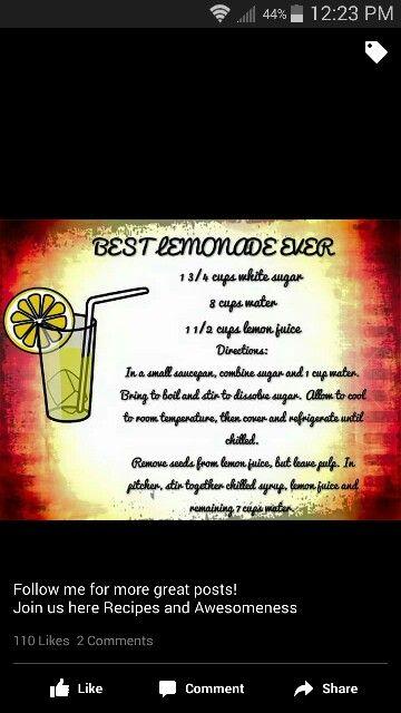 Best Lemonade Ever | Cocktails | Pinterest | Lemonade