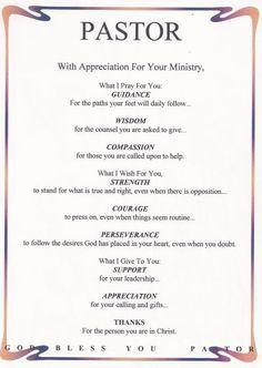 for pastor appreciation poems or