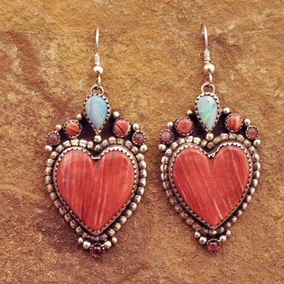 Spinney Oyster Heart Earrings by Bernyse Chavez