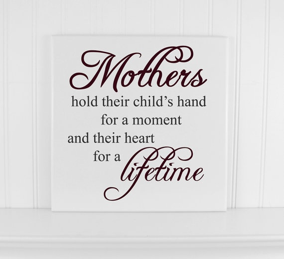 Mothers Day Sign Wood Quote Sign great gift for mom or for your nursery by CRSWoodDesigns