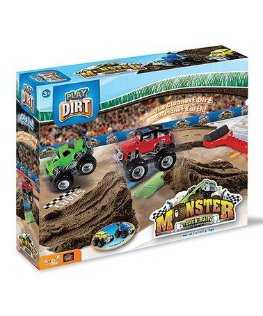Loving this Monster Truck Rally Play Dirt Set on #zulily! #zulilyfinds