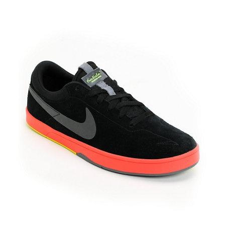 Nike SB Eric Koston Black, Sunburst & Green Skate Shoe