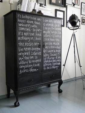 DIY-Projekt: Ein Schrank mit Tafellack