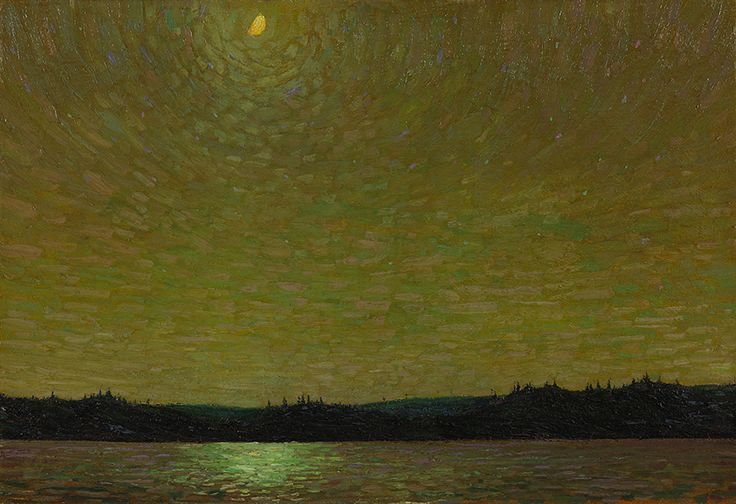 """""""Moonlight,"""" (1913–14, National Gallery of Canada) was the first of many works by Thomson that the National Gallery purchased, both during his life and later from his estate."""