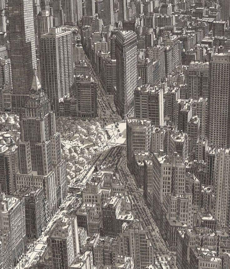 Les dessins de villes de mémoire par Stefan Bleekrode  Dessein de dessin