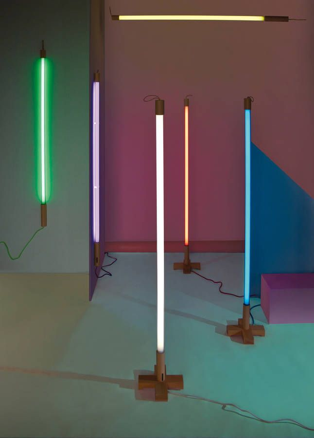coloured neon tube light by i love retro | notonthehighstreet.com