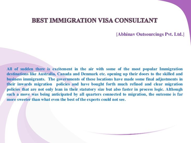 Best immigration visa consultant -  http://www.slideshare.net/gauravkanghain/best-immigration-visa-consultant#