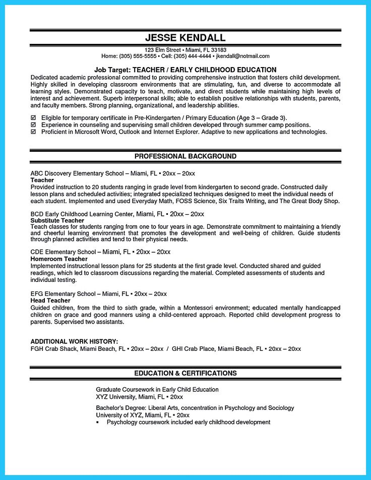 The 25+ best Acting resume template ideas on Pinterest Free - sample elementary teacher resume