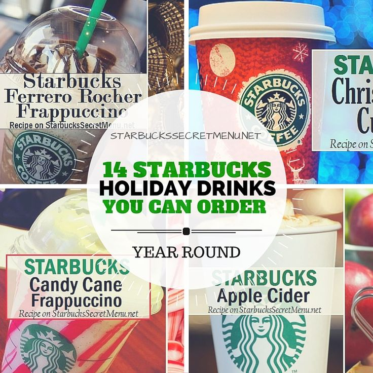 Enjoy the holidays any time of year with these 14 Starbucks Holiday Drinks you can order year round!