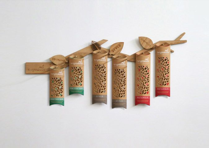 Brightwood梳子包装设计 - 包装设计 - 设计帝国