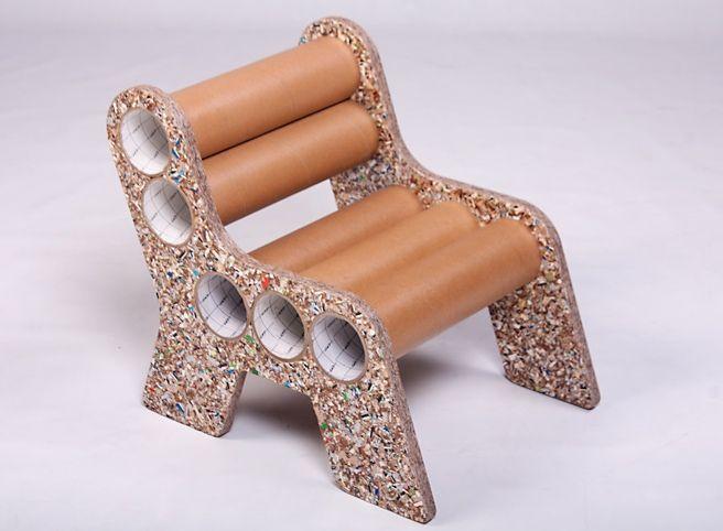 Tubos de carton reutilizaci n de materiales pinterest - Manualidades con muebles ...