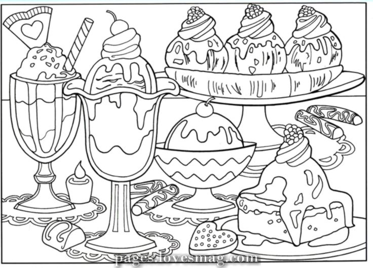 Coloring Pages For Kids Food