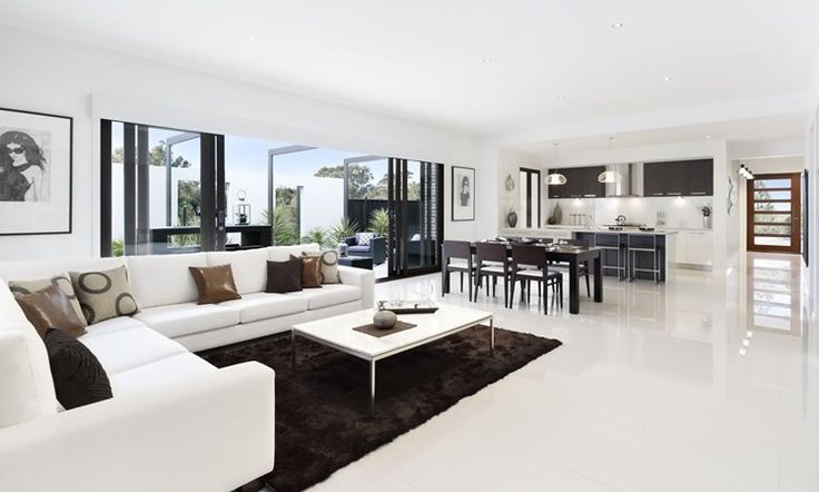 hayman - metricon homes open plan kitchen, dining & living area