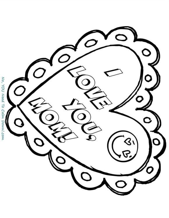 mom mother s day coloring page