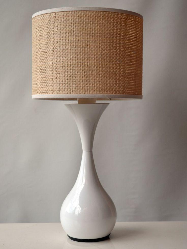 Lampara mesa velador moderna retro aluminio colores - Lamparas de mesilla modernas ...