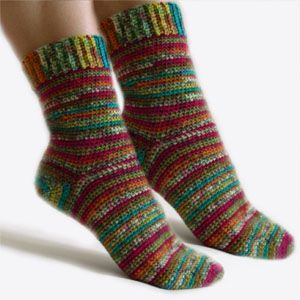 crochet easy adjustable socks