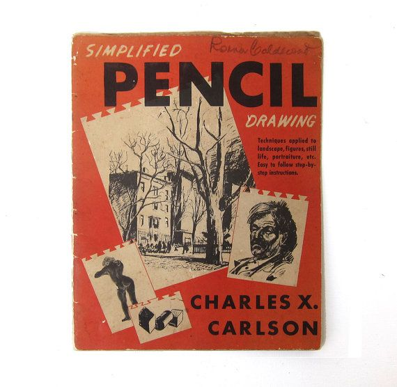 Vintage 1940s drawing book Simplified pencil drawing by evaelena, $17.50