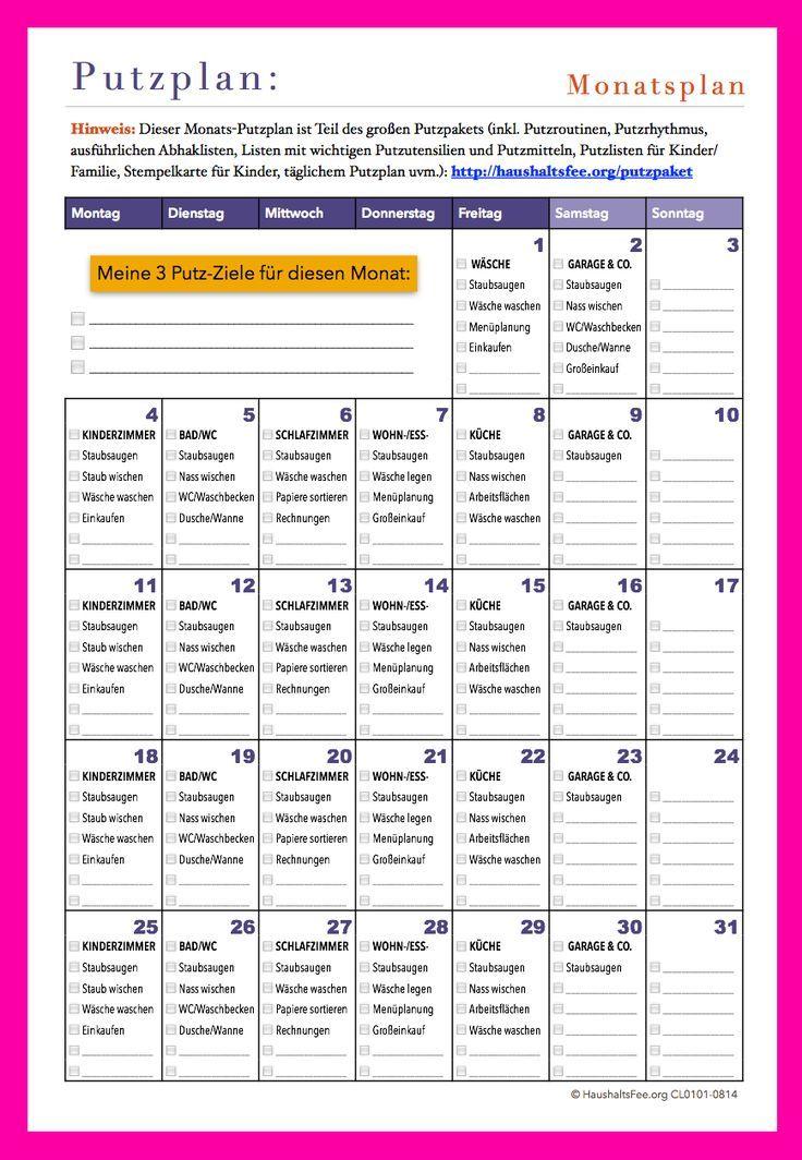Du möchtest dich in deinem Haushalt besser organisieren? Du suchst nach einer Putzroutine? Hier findest du die passende Checkliste / Putzplan zum Download. Mehr