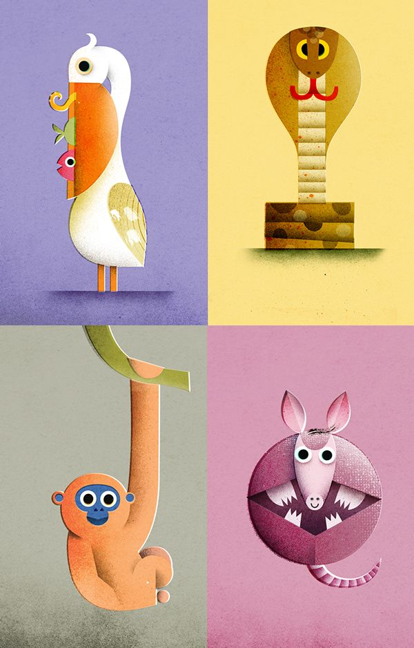 Spot illustrations and recent works on Behance