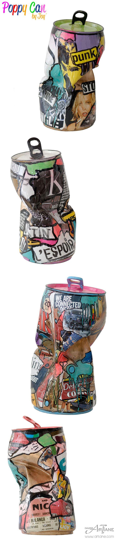 Popy styled Can from the Parisian artist Joy' http://www.artiane.com/joy-popy-can/