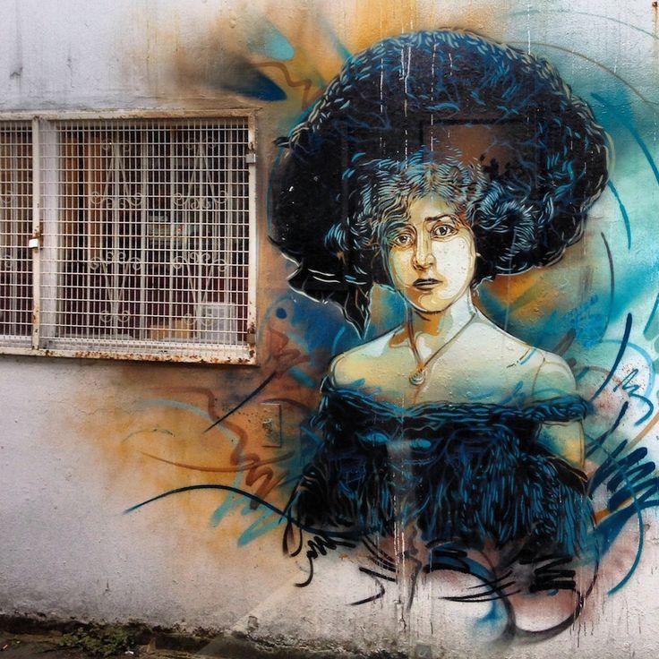 Street Art by C215 in East London, UK