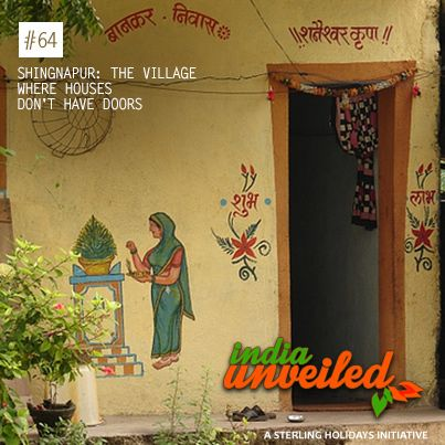 Shingnapur, a village in Ahmednagar district in Maharashtra, is famous for the fact that houses don't have doors. This is because villagers of Shingnapur believe that they are protected by the presence of the Shani Temple in the village and that Lord Shani punishes anyone attempting theft.  To download and read more India Unveiled stories, visit www.indiaunveiled.org