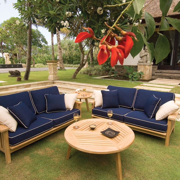 Teak Outdoor Sofa With 40+ Cushion Options | Thos. Baker