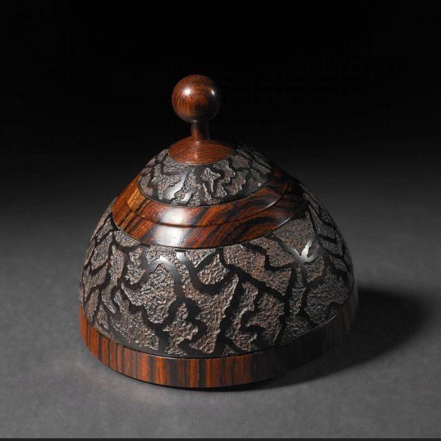 Lacy Sputnic, box by Steven Kennard - a woodturner and sculptor living and working in Nova Scotia, Canada.   I like how organic the texturing appears.