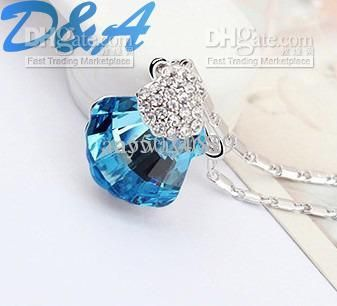 Fashion Jewelry Xmas Gift Noble Genuine SWA Elements Pendant Necklaces | Buy Wholesale On Line Direct from China