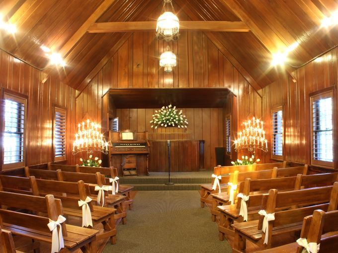 The historic Little Church of the West Wedding Chapel has hosted Vegas weddings since 1942.