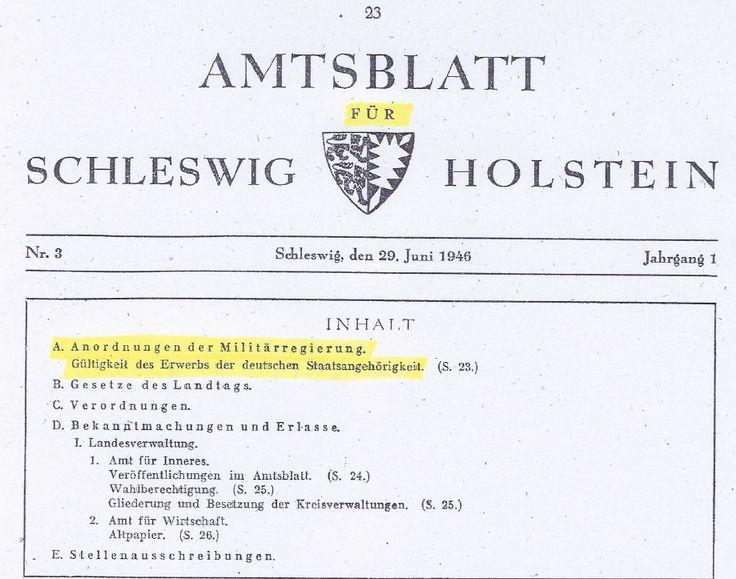 Anordnung der Militärregierung zur deutschen Staatsangehörigkeit aus 1946 › Der BRD-Schwindel