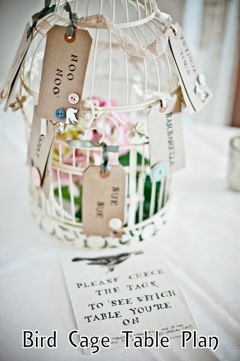 Bird Cage Table Plan - gorgeous, unusual idea