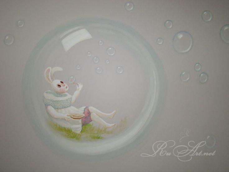 """Детская игровая комната в кафе.Роспись стен """"Алиса в стране чудес"""".(фрагмент.). """"Алиса в стране Чудес"""" - цитаты. Давным-давно в далекой-далекой Англии... ...девочка Алиса увидела белого Кролика и последовала за ним в самый глубокий колодец. Чтобы найти то, чего раньше никто не искал."""