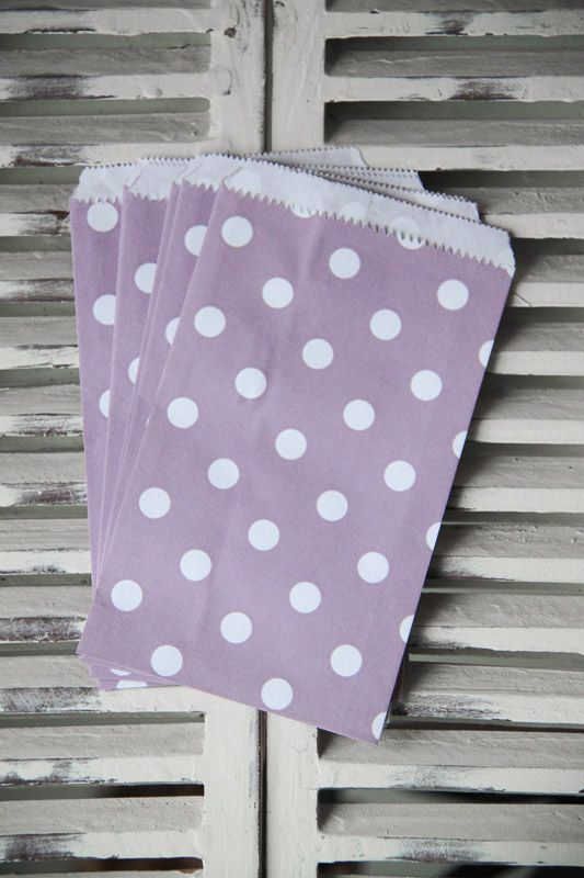 Purple Polka Dot Candy Bags - Small - Teelee - A Bits & Bobs Brand