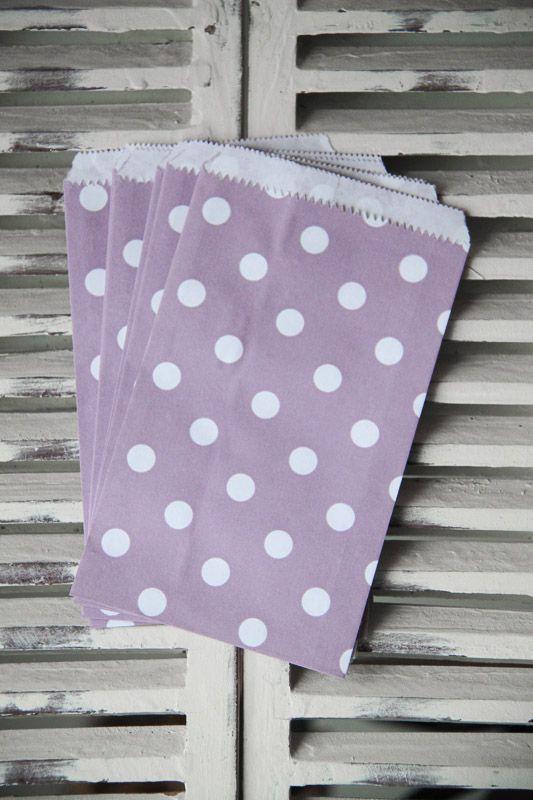 Purple Polka Dot Candy Bags - Small - Teelee - A Bits & Bobs Brand