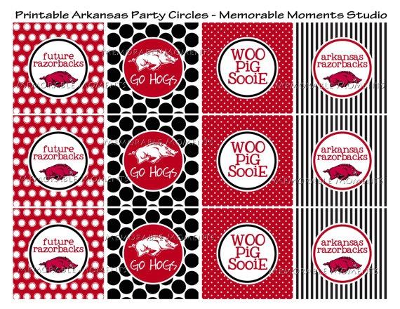 Razorback party printables: Razorback Tailgating, Razorback Ideas, Razorbacks Stuff, Ar Razorbacks, Razorback Background, Arkansas Razorbacks, Razorback Printables, Razorback Stuff, Razorback Party Ideas