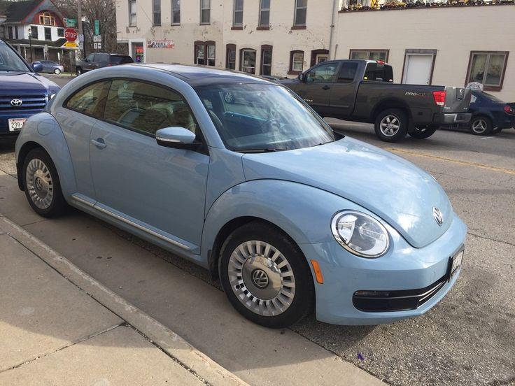 light blue volkswagen beetle volkswagen beetle pinterest