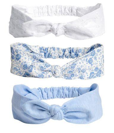 3-pack hårbånd   Hvit   Barn   H&M NO