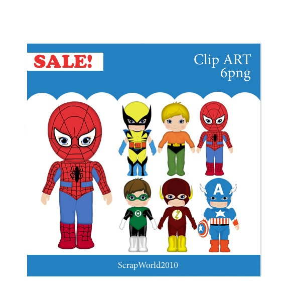 Superhero Student Clipart
