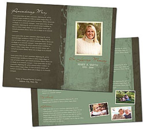 Best Memorial  Album Templates Images On   Funeral