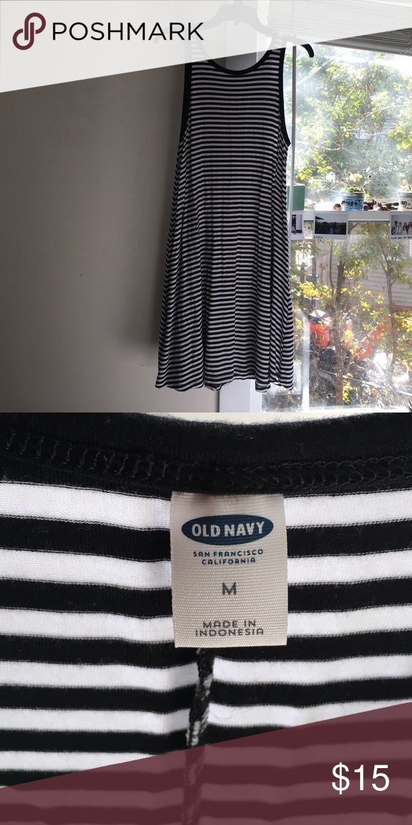 Old navy striped dress Size- medium. Mid thigh length. Good condition. Old Navy Dresses Midi